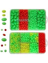 jshanmei® 1000unidades vivos de plástico ovalado moldeada perlas redondas perlas Pesca Cebo Pesca grano de pesca abordar Herramientas Huevos