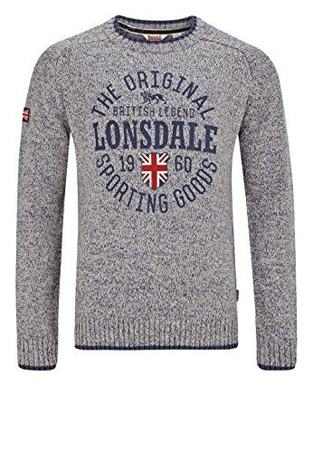 Lonsdale Herren Sweater Borden, Farbe:light grey;Größe:XL