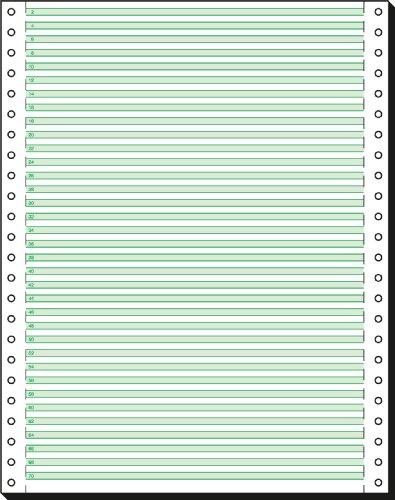 SIGEL 12247 Endlospapier 12 Zoll x 240 mm (A4 hoch), 60 g, 2000 Blatt LP, 1fach, mit Leselinien
