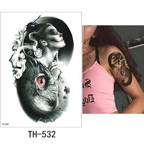 adgkitb 3pcs Sheet Tattoo-Aufkleber Bunte gefälschte Tätowierung TH-532 15x21cm