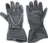 Ototop 240957 - Guantes de cuero para moto (talla XL), color negro