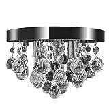 vidaXL Lustre plafonnier contemporain cristal lampe chromé design classique et élégant