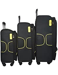 [Sponsored]Texas USA - Exclusive Range Of Imported Soft Luggage Trolley - Set Of 3 - 20 Inch Cabin - 24 And 28 Inch Check...