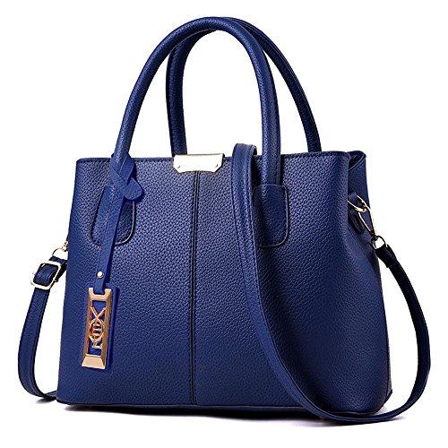34177f9729344 Womens Handbags Ladies Purses Satchel Shoulder Bags Tote Bag,Blue