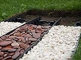 Best4Garden-Dig riciclato non prato Economy, colore: nero, 60 mm, con facile installazione Picchetti inclusi, forma dritta, può essere modellato per qualsiasi Curve, sicuro e flessibile, con Bordo in plastica crea un crisp cui separazione, può essere utilizzato per edge turf, aiuole, sentieri di mattoni, alberi, mattoni, ardesia, ghiaia o aggregati sentieri, vialetti e disponibili pacchetti di misure., No extra nails
