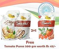 La Faire Ginger Paste, Tamrindc Paste Free Tomato Puree 500 gm Each