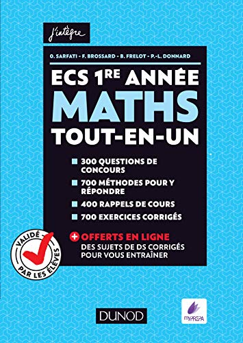 ECS 1re année - Maths - Tout-en-un - Validé par les élèves par Olivier Sarfati