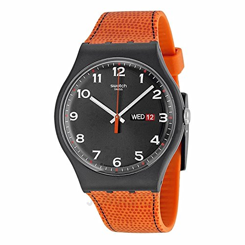 Swatch SOrologio Originali finto Fox Nero Quadrante Unisex Orologio SUOB709