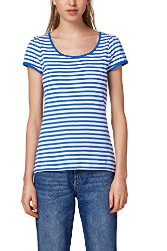 edc by ESPRIT Damen T-Shirt 028CC1K045, Weiß (White 100), Medium