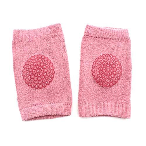 EROSPA® Baby Knieschoner Knieschützer Anti-Rutsch - Mädchen - Altrosa - 1 Paar