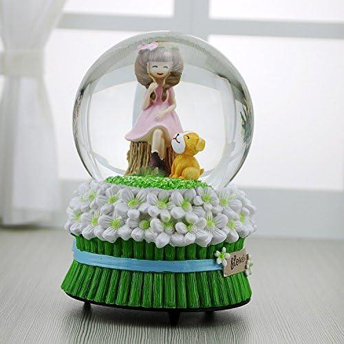 Weekendy Jouet drôle drôle drôle de bébé Créative Mignon Rose Robe Fille Snowflake Crystal Ball Boîte à Musique pour Cadeau d'anniversaire | Fiable Réputation  e89417