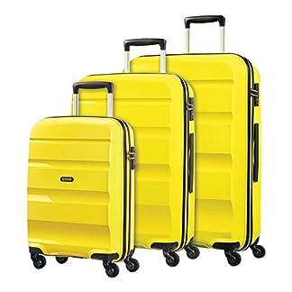 American Tourister Bon Air – Juego de maletas  amarillo lime green 55cm, 66cm & 75cm