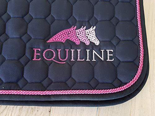 Equiline Schabracke Sprinter Art VS, Farbe Pferdezubehör Navy/pink