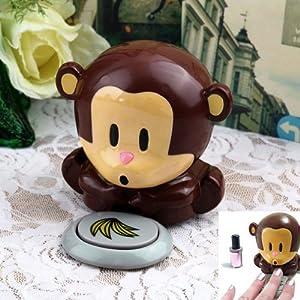 Affe Nageltrockner Puste?ffchen cute mokey Cute Monkey Hand Nail Art Tips Design Gel Polish Dryer Blower Manicure Care