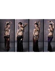 Conjunto de traje de danza del vientre , s , coffee