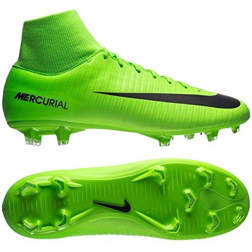 Nike Mercurial Victory VI DF FG, Scarpe da Calcio Uomo, Multicolore (Electric Green/Black-Flash Lime-White), 44.5 EU