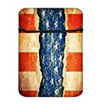 Snoogg Grunge America 10 Inch Easy Access Padded Laptop Case Cover Flip Sleeve Bag