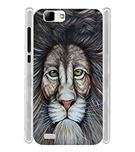 Lion Eyes Graphic Soft Silicon Rubberized Back Case Cover for Vivo V1