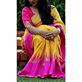 #8: Saree(Harikrishnavilla Saree For Women Party Wear Half Sarees Offer Designer Below 500 Rupees Latest Design Under 300 Combo Art Silk New Collection 2017 In Latest With Designer Blouse Beautiful For Women Party Wear Sadi Offer Sarees Collection Kanchipuram Bollywood Bhagalpuri Embroidered Free Size Georgette Sari Mirror Work Marriage Wear Replica Sarees Wedding Casual Design With Blouse Material