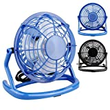 Laptop PC USB Fan Oenbopo Mini Super Mute Laptop Computer PC Portable USB Cooler Cooling Desktop Small Fan(Blue 2)