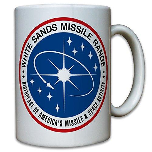 White Sands Missile Range WSMR WSPG Proving Grounds United States US Army Raketen Drohnen Abzeichen Wappen Patch Atombombe - Tasse Kaffee Becher #9794 (Sands White Army)