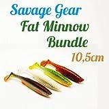 Savage Gear Fat Minnow T-Tail **Spar-Bundle** - (10,5cm - 5 Farben - 15 Köder) Zanderköder und Hechtköder