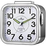 Atrium Senior Réveil analogique cadran noir avec cloche ansteigendem Signal, la lumière et Snooze, sans tic-tac,...