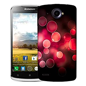 Snoogg Red bubbles Designer Protective Back Case Cover For Lenovo S920