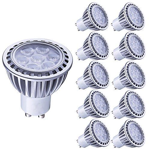 Lampaous gu10 led 7w Kaltweiss Leuchtmittel Led Lampe Spot Birnen ersetzt 70 Watt Halogenlampe 600lm 230V AC 10er Pack - Gu10 Spot Birne