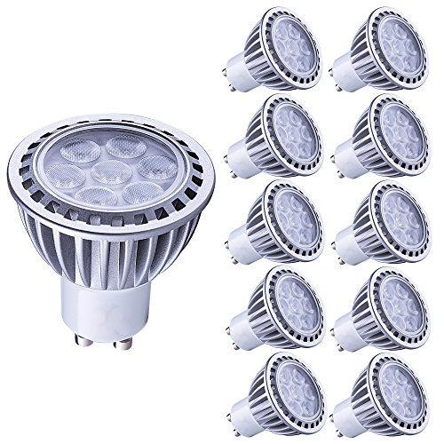 Tageslicht-led-spot-birne (Lampaous gu10 led 7w Kaltweiss Leuchtmittel Led Lampe Spot Birnen ersetzt 70 Watt Halogenlampe 600lm 230V AC 10er Pack)