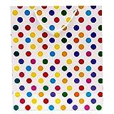 Utsav Kraft White Polka Dots Desginer Pa...