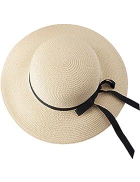 Sombrero De Paja Señoras Verano Fresca Pequeña Sombrero De Playa Sombrero Para El Sol Protector Solar Sombrero...