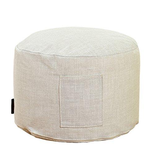 uusshop Sitzsack Bean Bag Fußhocker Fußstütze osmanischen Hocker Fuß Stuhl, abnehmbarer Bezug Leinen + Liner, keine Füllung, (hellgrau) -