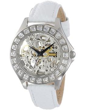Burgmeister Armbanduhr für Damen mit Analog Anzeige, Automatik-Uhr und Lederarmband - Wasserdichte Damenuhr mit...
