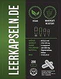 Magensaftresistent | Leerkapseln Größe 00 | magensaftresistente Kapseln | vegan - hoch qualitativ | lösen sich erst im Dünndarm auf (200 Stück Gr. 00)
