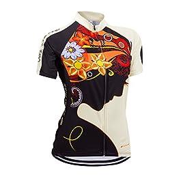 ZEROBIKE&Reg; Donne comode Full-Zip Manica Corta T-Shirt Signore della Bicicletta Jersey Cycling Jersey Giacca Ciclismo Camicia Quick Dry Traspirante Sportwear