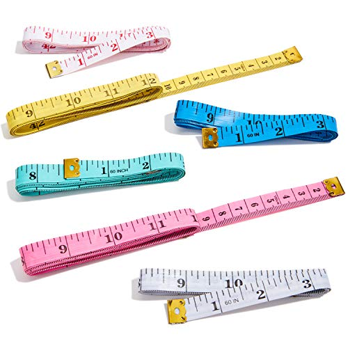 Genie Crafts 24-Count weiches Maßband für Nähen, Schneider, Körpermaße, 152,4 cm, 6 (Einfach Genie Kostüm)