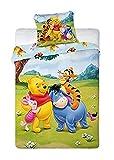 Biancheria da letto per bambini, motivo: Winnie Pooh, 100 x 135 cm/40 x 60 cm, multicolore