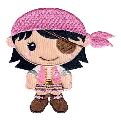 PatchMommy Pirata Niña Parche Termoadhesivo - Apliques Bordados para Niños