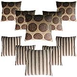 #1: HOMEC Trandy Cushion Covers Set of 10 in 40 cm X 40 cm