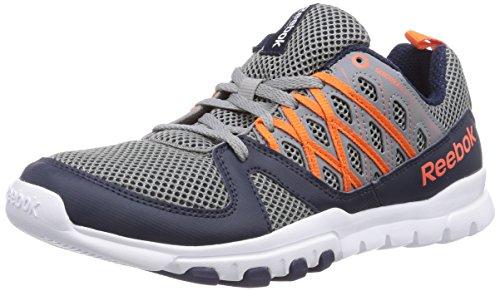 Reebok - Sublite Train Rs 2.0, Scarpe fitness Unisex - Adulto Grigio (Grau (Flat Grey/Faux Indigo/Vivid Tangerine/White))