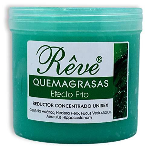 51g0DFGlbwL - REVE Quemagrasas Efecto Frio - Gel de crema reafirmante adelgazante anticelulítica potente reductora de abdomen, caderas y glúteos para hombre y mujer de 500 ml.