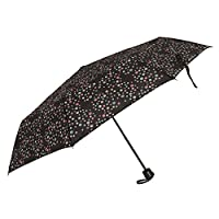 Womens/Ladies Wind Resistant Polka Dot Compact Close Umbrella (One Size) (Spotted)