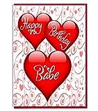 Love Herz Geburtstag Karte–Happy Birthday Babe