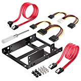 Inateck SSD Mounting Bracket 2.5 to 3.5 with SATA Cable and Power Splitter Cable, ST1002S