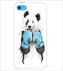 PrintDhaba Boxer Teddy D-1271 Back Case Cover for APPLE IPHONE 5C (Multi-Coloured)