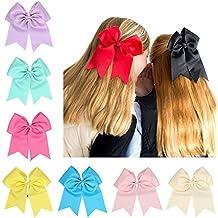 0414dfa47c950b Veewon 12 Stück Groß Boutique Kinder Haar schleife mit Gummiband Tupfen  Große Haarbögen für Babyhaarbögen Babyzubehör