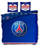 Paris St German PSG Football - Parure de Lit Double - Housse de Couette 220 x 240 cm Taies 63 x 63 cm
