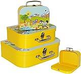 Unbekannt 1 Stück _ Koffer / Kinderkoffer - KLEIN -  Bauernhof / Tiere  - 20 cm - ideal für Spielzeug und als Geldgeschenk - Mädchen & Jungen - Pappkoffer - Puppenkof..