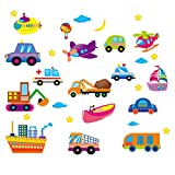 STOBOK trasporta adesivi murali bambini adesivi murali adesivi murali rimovibili per camera da letto per bambini soggiorno camera da letto